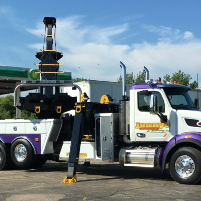 heavy duty towing, semi recovery, tow truck with rotator, ottawa, il