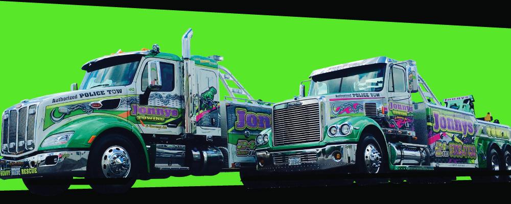 Photo of 2 Jonny's towing trucks