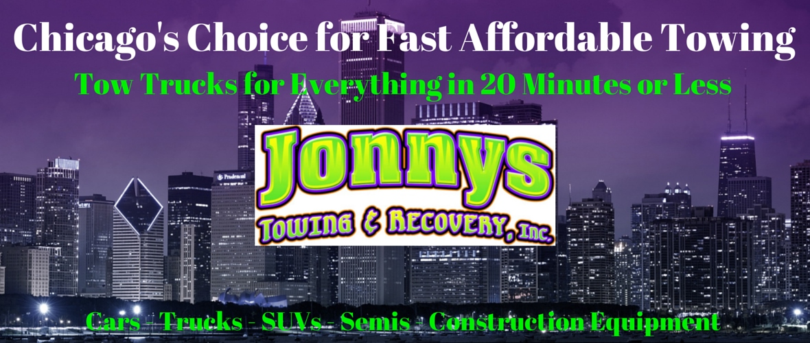 towing service, chicago, tow truck, jump start, flat tire change, vehicle lockouts, jonnys towing & recovery inc., 60609