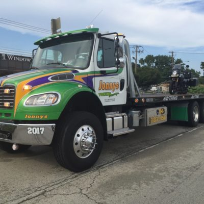 flatbed towing, sandwich, il, motorcycle towing
