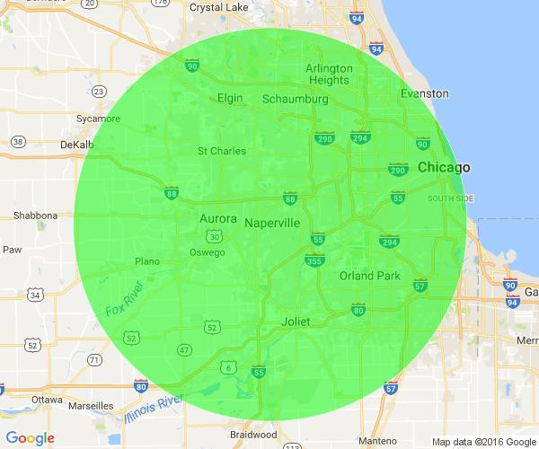 Jonny's Towing service area map