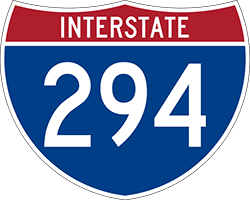 Illustration of Interstate I-294 Sign