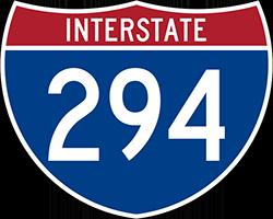 Illustration of Interstate I-294 Sign