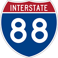 Illustration of Interstate I-88 Sign