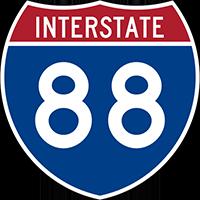 Illustration of Interstate I-88 Sign