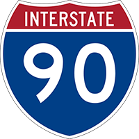 Illustration of Interstate I-90 Sign