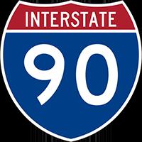 Illustration of Interstate I-90 Sign