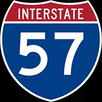 Interstate 57 sign