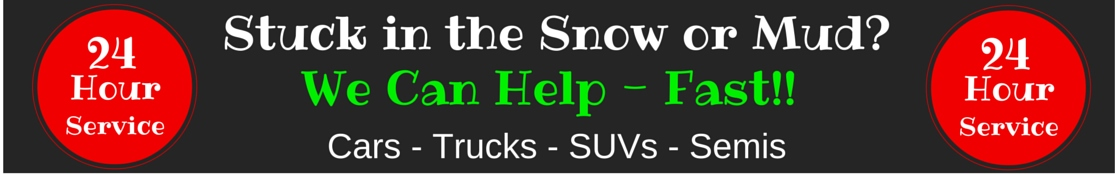 winch-out service,car stuck in snow, mud, water, ditch, off-road recovery, chicago, oswego, naperville, aurora, jonnys towing & recovery inc.